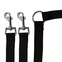 Strong Nylon Dual Lead Leash for Walking Two Dogs or Cats with Your Favorite Leash