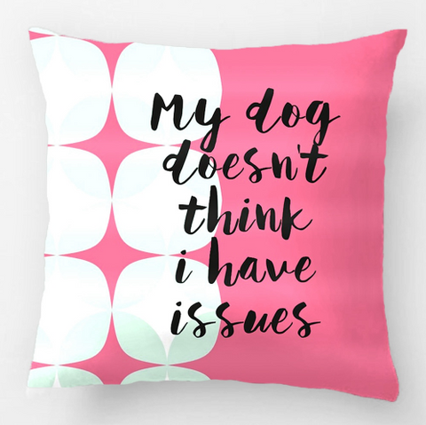 Dogs Are My True Love. Wedding Decorative Cushion