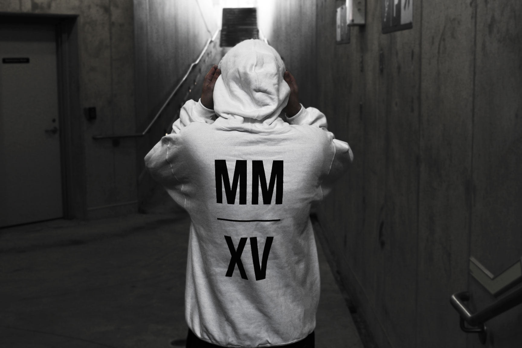 MMXV menswear hoodie by Ben Alfy
