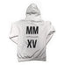 MMXV sweatshirt. White mens sweater from season 1 of the benjamin alfy collection