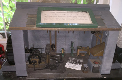 Historic Model Display of Working Blacksmith's Shop