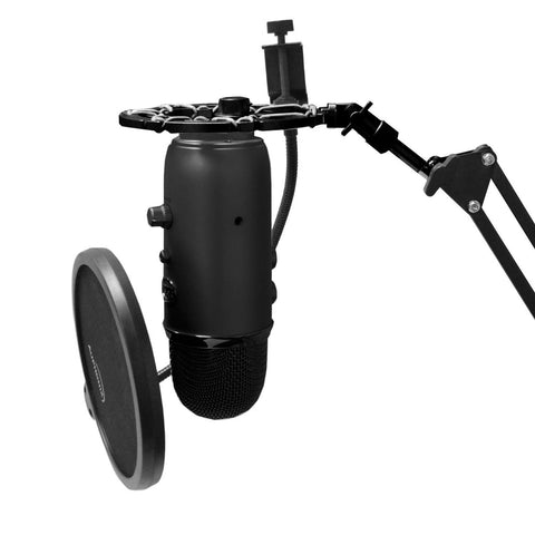 Black Shock Mount For Blue Yeti Microphone