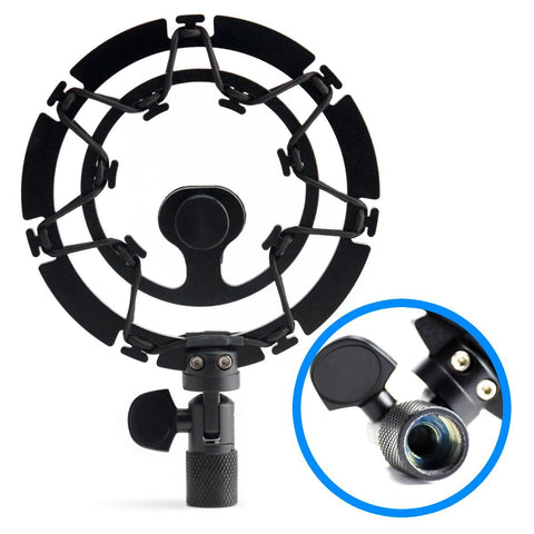 Black Shock Mount For Blue Snowball Microphone