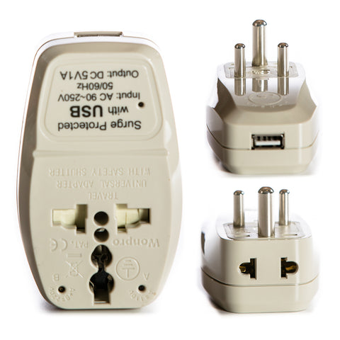 2 in 1 + USB - Type D