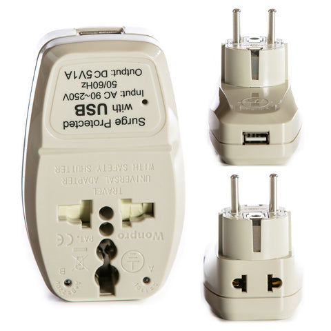 2 in 1 + USB - Type E/F