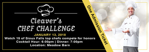 Admission Ticket -  Cleavers Chef Challenge