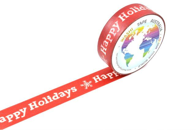 Happy Holidays on Red