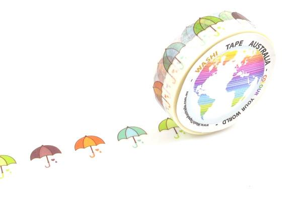 Umbrellas Washi Tape 15mm X 10m Crafts
