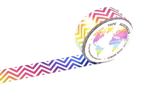 Foil Rainbow Chevron