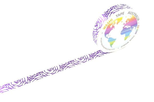 Foil Floral Purple (Thin 10mm)