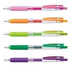 ZEBRA SARASA CLIP 0.5MM FINE POINT GEL INK PENS - Singles