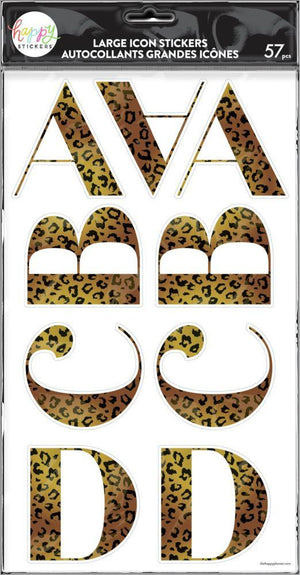 Cheetah Alphabet Stickers