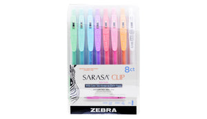 Sarasa Clip Gel Retractable 0.5mm Milk Colours Asst 8pk