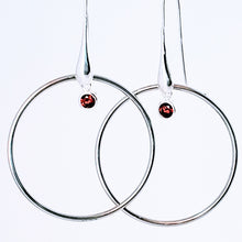 Load image into Gallery viewer, Circle of Love Red Earrings - Jiana Deon