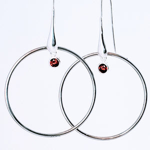 Circle of Love Red Earrings - Jiana Deon