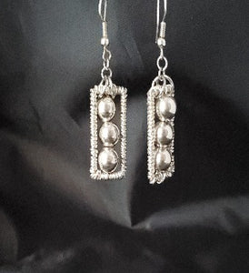 Three Bead Drop Earrings - Jiana Deon