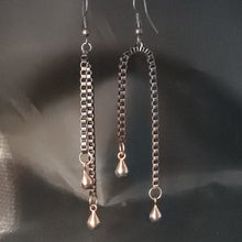 Load image into Gallery viewer, Copper Chain Drop Earrings - Jiana Deon