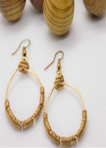 Brass Oval Earrings - Jiana Deon