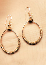 Load image into Gallery viewer, Brass Oval Earrings - Jiana Deon