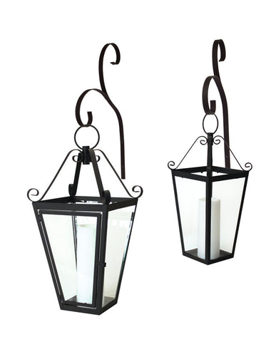 Hanging Lantern w/Wall Hook (Set of 2)