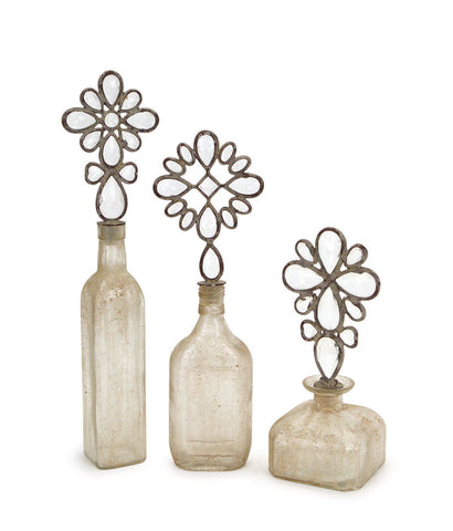 Decorative Bottles w/Stoppers (Set of 3)