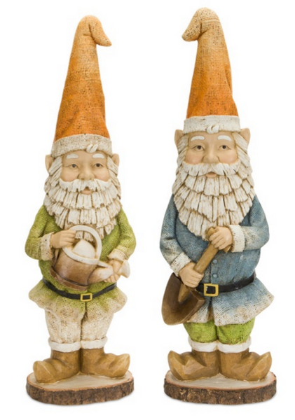 Burlap-Look Garden Gnome (Set of 2)