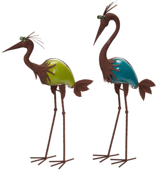 Crane Garden Statues (Set of 2)