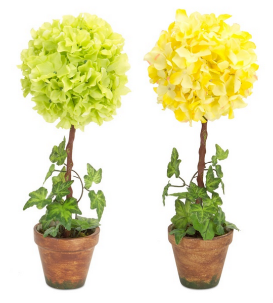 Hydrangea Ivy Topiary (Set of 2)