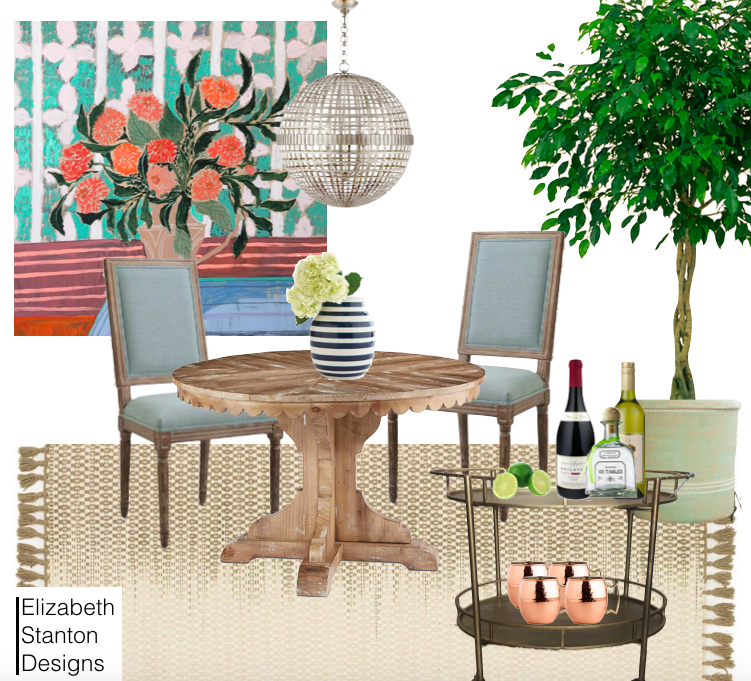 ES6: Uncommon Color Combo Dining Room