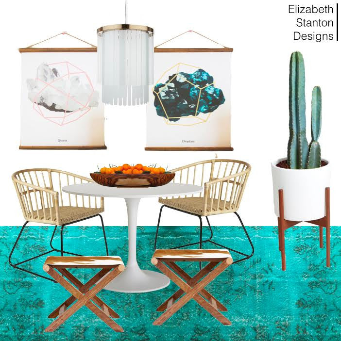 ES7: Teal Boho Dining Room