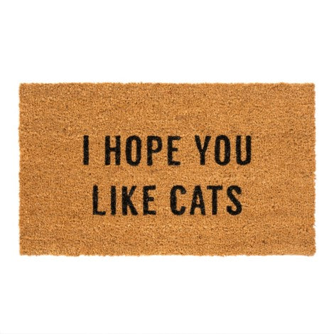 i hope you like cats doormat {PREORDER}