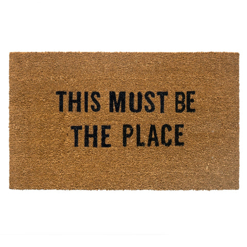 this must be the place door doormat - Apple & Oak