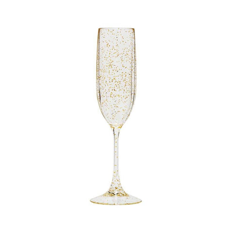 sparkle gold unbreakable wine glass