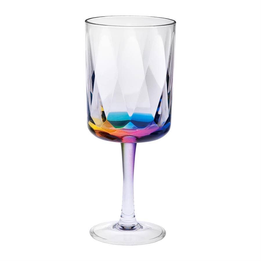 acrylic rainbow wine glass
