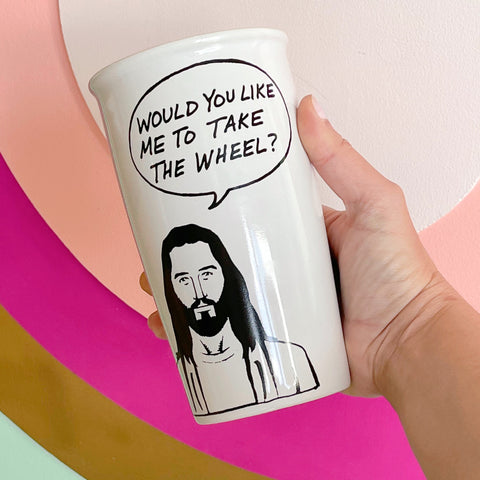 jesus take the wheel {travel mug} - Apple & Oak