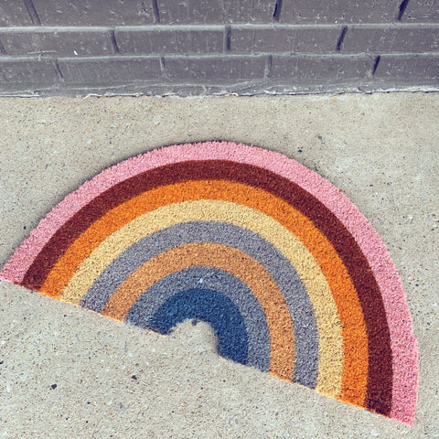 rainbow doormat - Apple & Oak