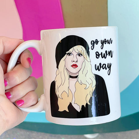 go your own way {stevie nicks} mug - Apple & Oak