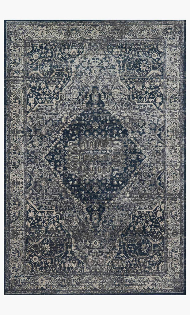 everly rug collection- grey midnight
