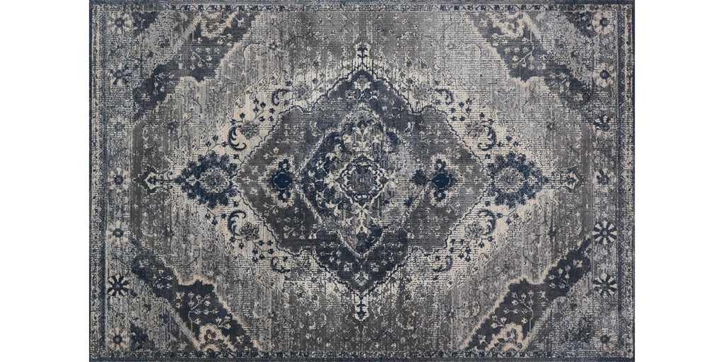 everly rug collection- silver grey