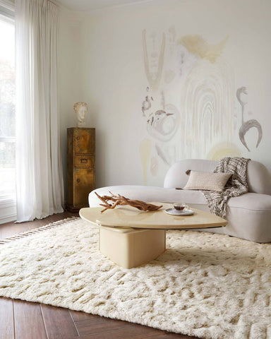 hygge rug collection- oatmeal/ivory
