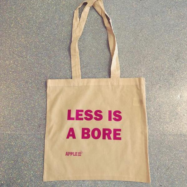 less is a bore tote bag - Apple & Oak