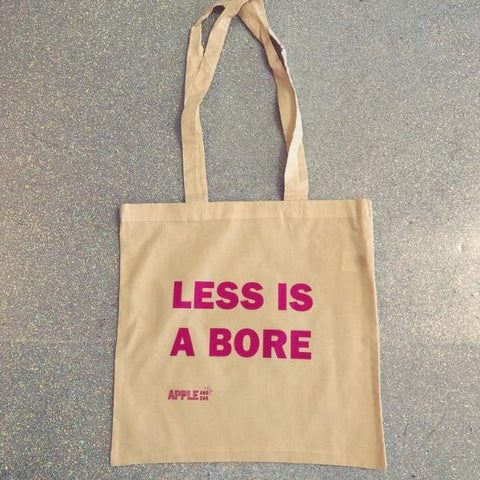 less is a bore tote bag