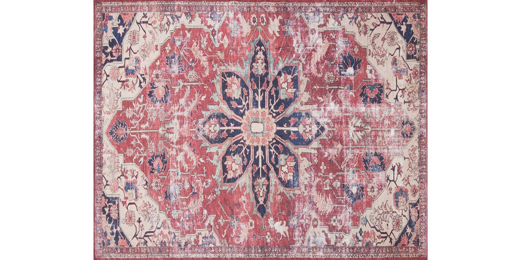 luca rug collection- rust ivory
