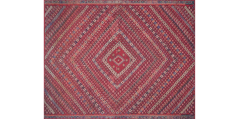 luca rug collection- red multi