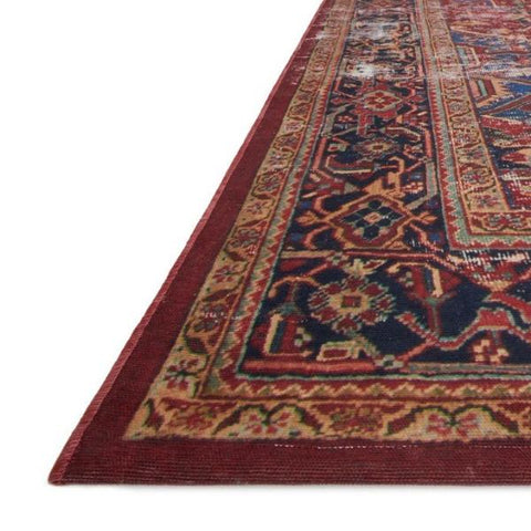 lucca rug collection- red & blue