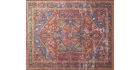 luca rug collection- red & blue