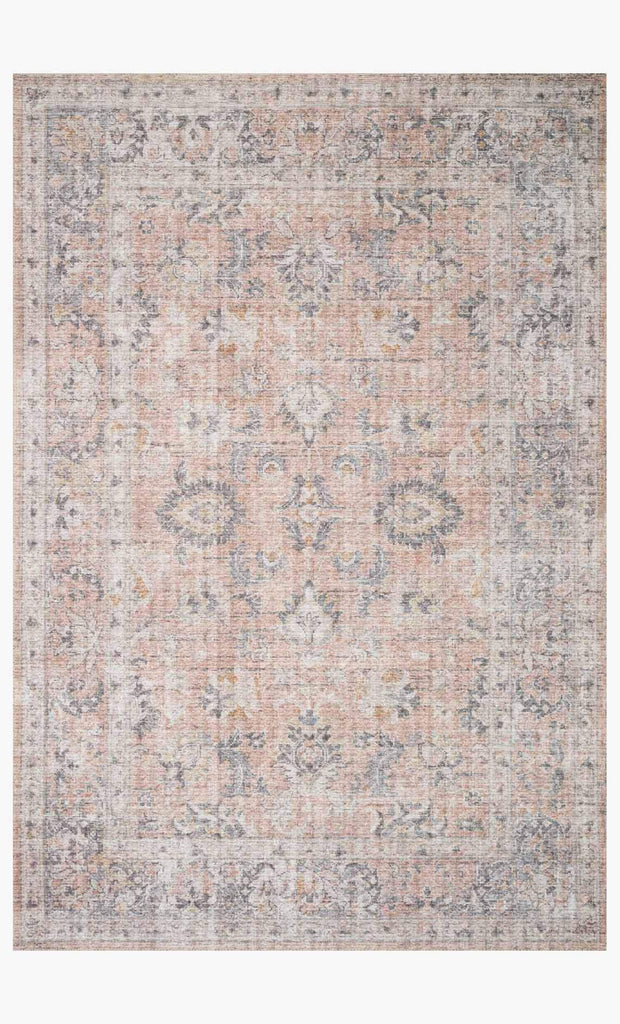 skye rug collection- blush/grey
