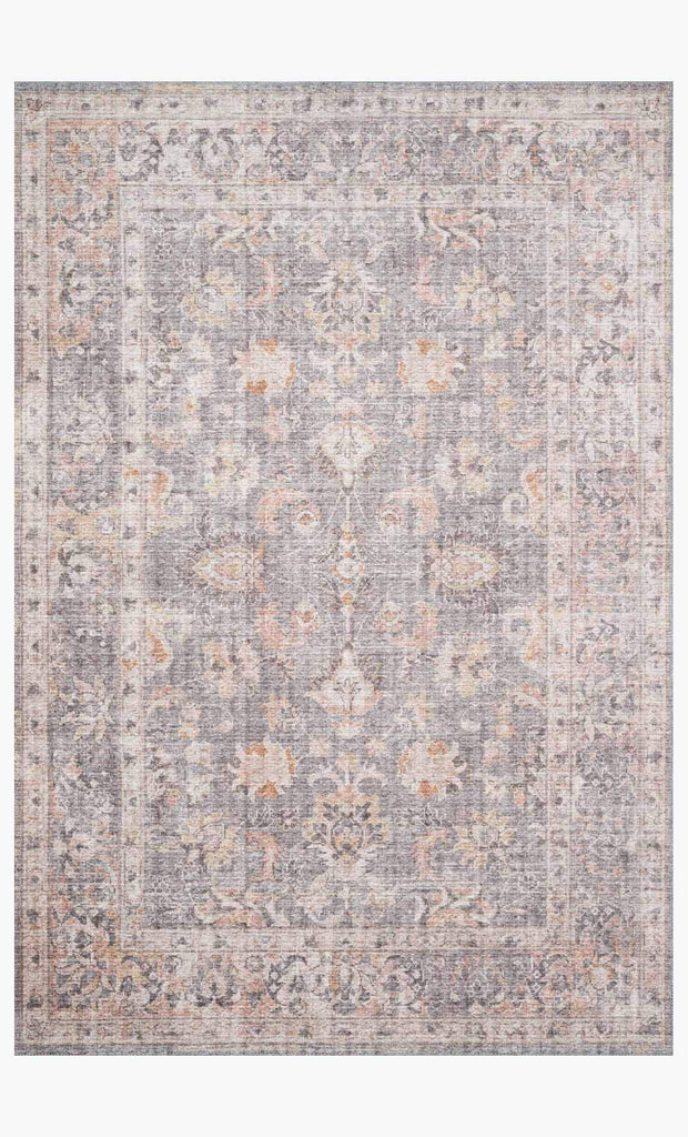 skye rug collection- grey/apricot
