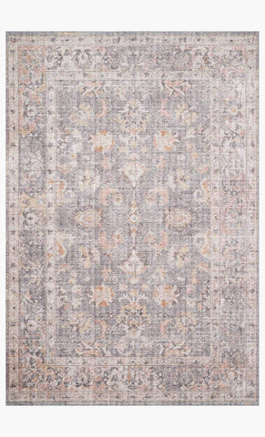 skye rug collection- grey/apricot - Apple & Oak