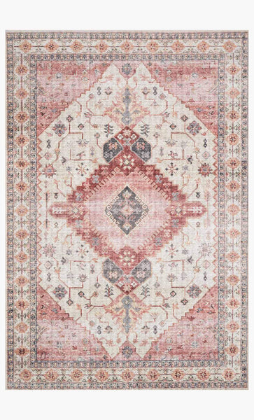 skye rug collection- ivory/berry